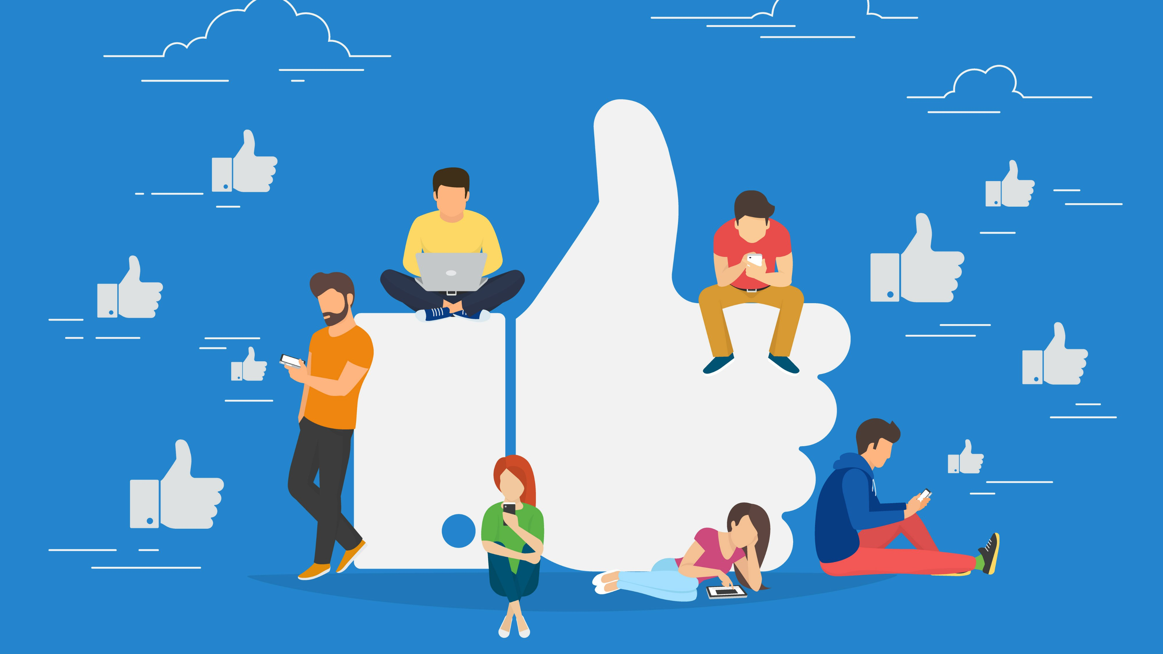 Illustration, guide facebook de la page d'entreprise